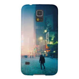 Trudging Through The Snow In Times Square Galaxy S5 Cases