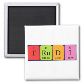 Trudi periodic table name magnet