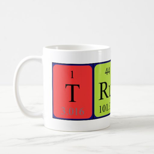 Trudi periodic table name mug