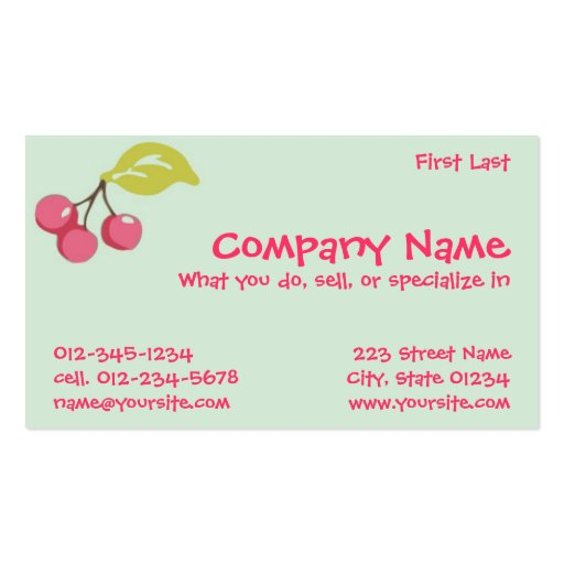 trudy business card template