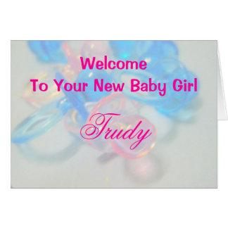 Trudy Greeting Card