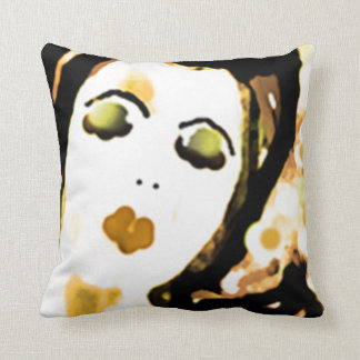""""""" Trudy """" II  50's Lady Throw Pillow"""