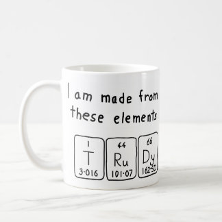 Trudy periodic table name mug