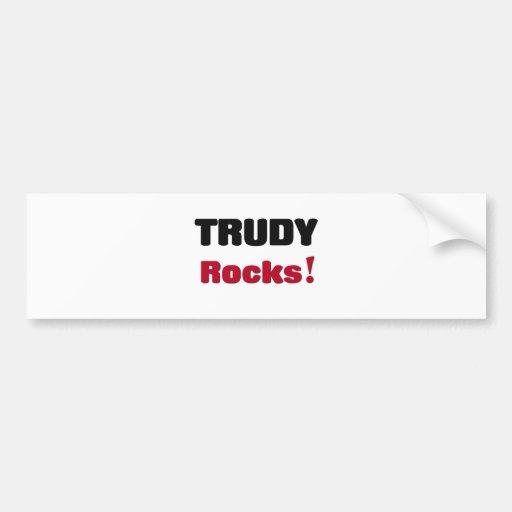 Trudy Rocks Bumper Stickers