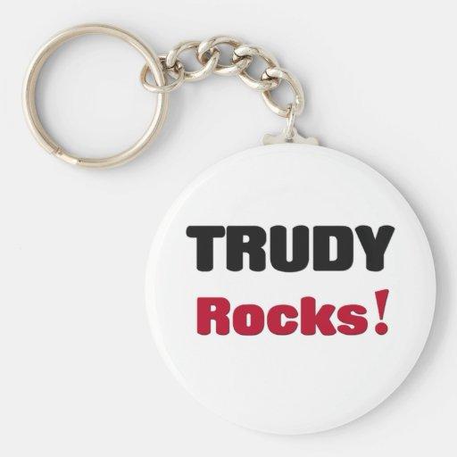 Trudy Rocks Keychain