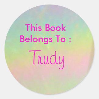 Trudy Round Sticker