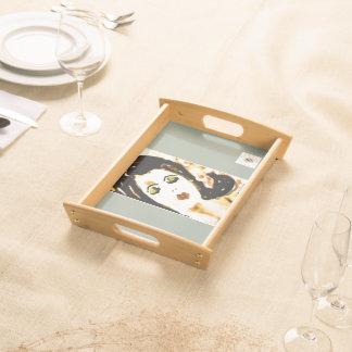 """ Trudy Serves "" Modern Art Summer Party Food Trays"