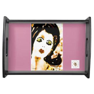 """ Trudy Serves ""SM_ Modern Art Vanity Serving Platters"