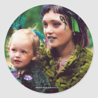 Trudy The Tribe Round Sticker