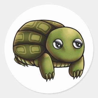 Trudy Tortoise Sticker Round