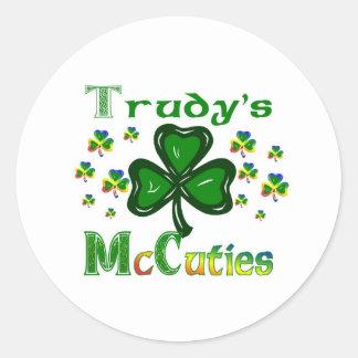 Trudys McCuties Round Sticker