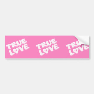 true-217811  pink true love heart symbol icon happ bumper sticker