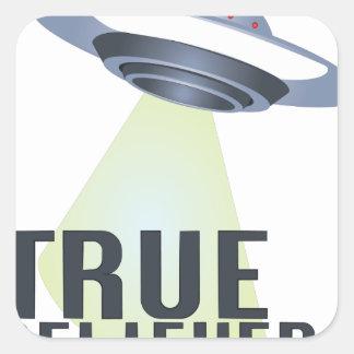 True Believer Square Sticker