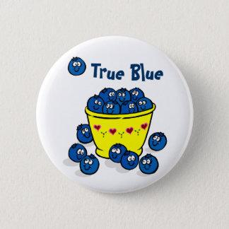 True Blue 2 Inch Round Button