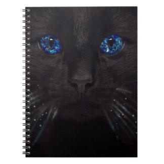 True Blue Cat Spiral Notebook