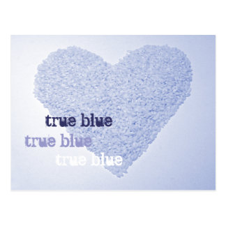 True Blue postcard