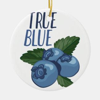 True Blue Round Ceramic Ornament