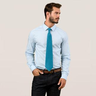 True Blue Topaz Jewel Foulard Satin Tie