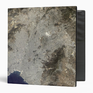 True-color satellite view of central Athens Vinyl Binder