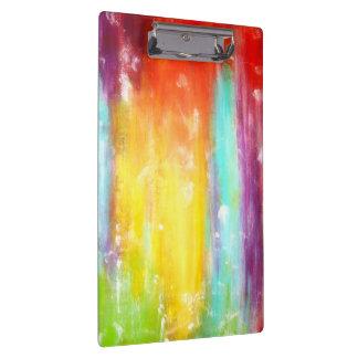 True Colors Abstract Art Clipboard