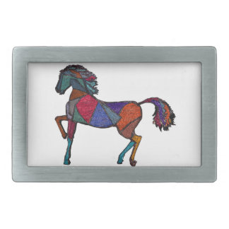True Colors Rectangular Belt Buckle
