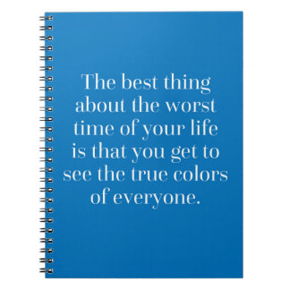 True Colours Quote Notebook