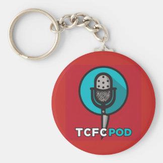 True Crime Fan Club Logo Key Chain