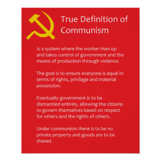 True Definition of Communism Matte Poster