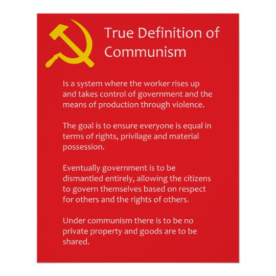 True Definition of Communism Matte Poster