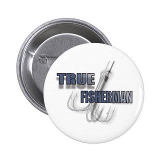 TRUE FISHERMAN 2 INCH ROUND BUTTON