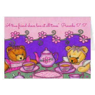 True Friend-Love All Times~Bears Party~Scriptures Card