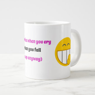 True friends laugh at each other large coffee mug
