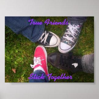 True Friends Poster (purple font)