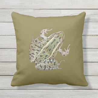 True Frog Throw Pillow