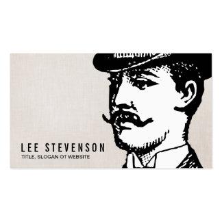 True Gentleman Card Vintage Hipster Linen Look Pack Of Standard Business Cards