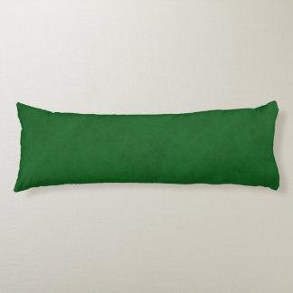 True Green Velvet Look Body Pillow