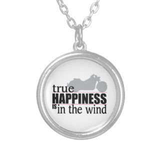 True Happiness is In The Wind Silver Plated Necklace