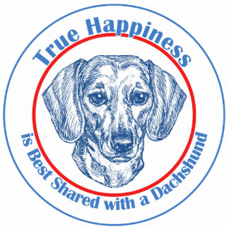 True Happiness with a Dachshund (Shorthair) Photo Sculpture Ornament