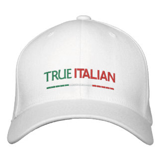 True Italian-Italian Flag Embroidered Hat
