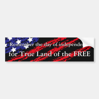 True Land of the FREE Bumper Sticker