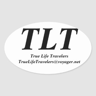 True Life Travelers Oval Sticker