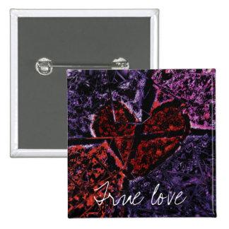 True Love 2 Inch Square Button