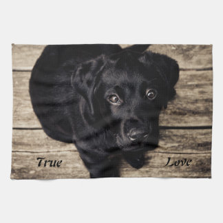 True Love Black Labrador Retriever Kitchen Towel