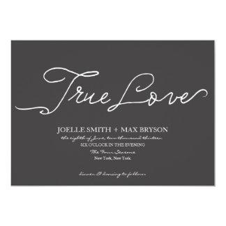 """True Love Collection   Wedding Invitation 5"""" X 7"""" Invitation Card"""