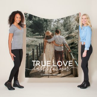 True Love Couple Photo Fleece Blanket