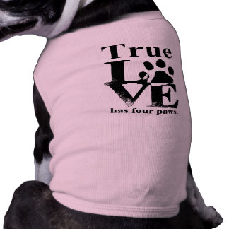 True Love Has Paws Pet T-shirt