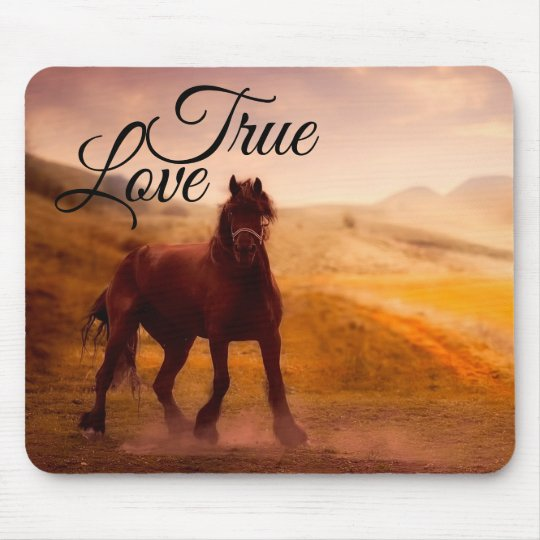 True Love Horse Mouse Pad