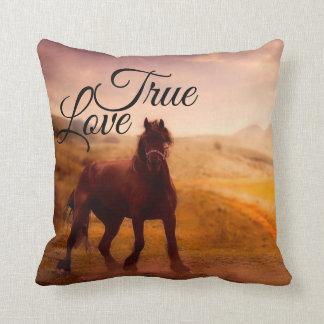 True Love Horse Throw Pillow