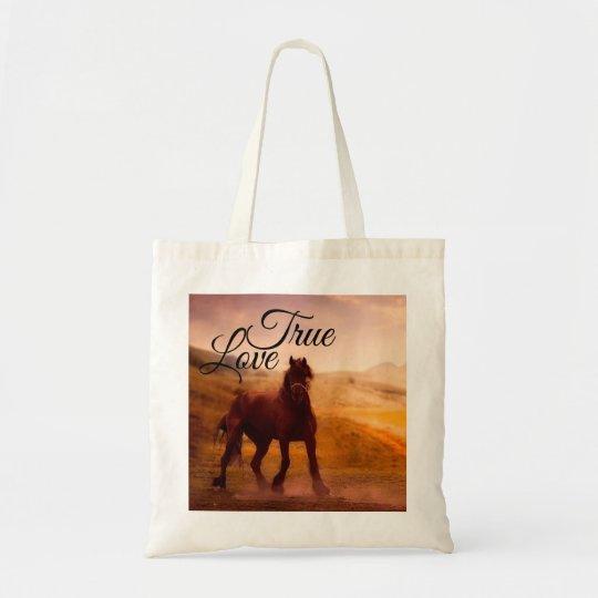 True Love Horse Tote Bag