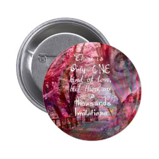 True love is not easy to find it 2 inch round button